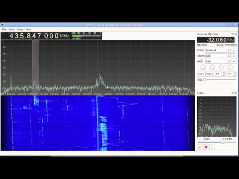 FO-29 satellite reception with Funcube Dongle and Gqrx