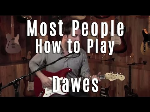 Most People tutorial by Dawes tab