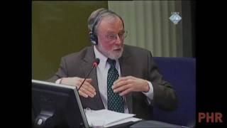 Dr. William Haglund Testifying at the Trial of Radovan Karadzic