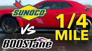 Sunoco vs Boostane at the 1/4 mile (Dodge Demon)
