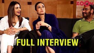 Ajay, Tabu & Rakul Preet on De De Pyaar De | Paparazzi moments | Kissing scenes & more | Exclusive