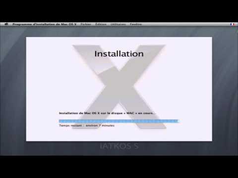 1/1 Tuto Complet Comment installer iAtkos Mac OSx86 Stable sur Pc Windows Hackintosh francais