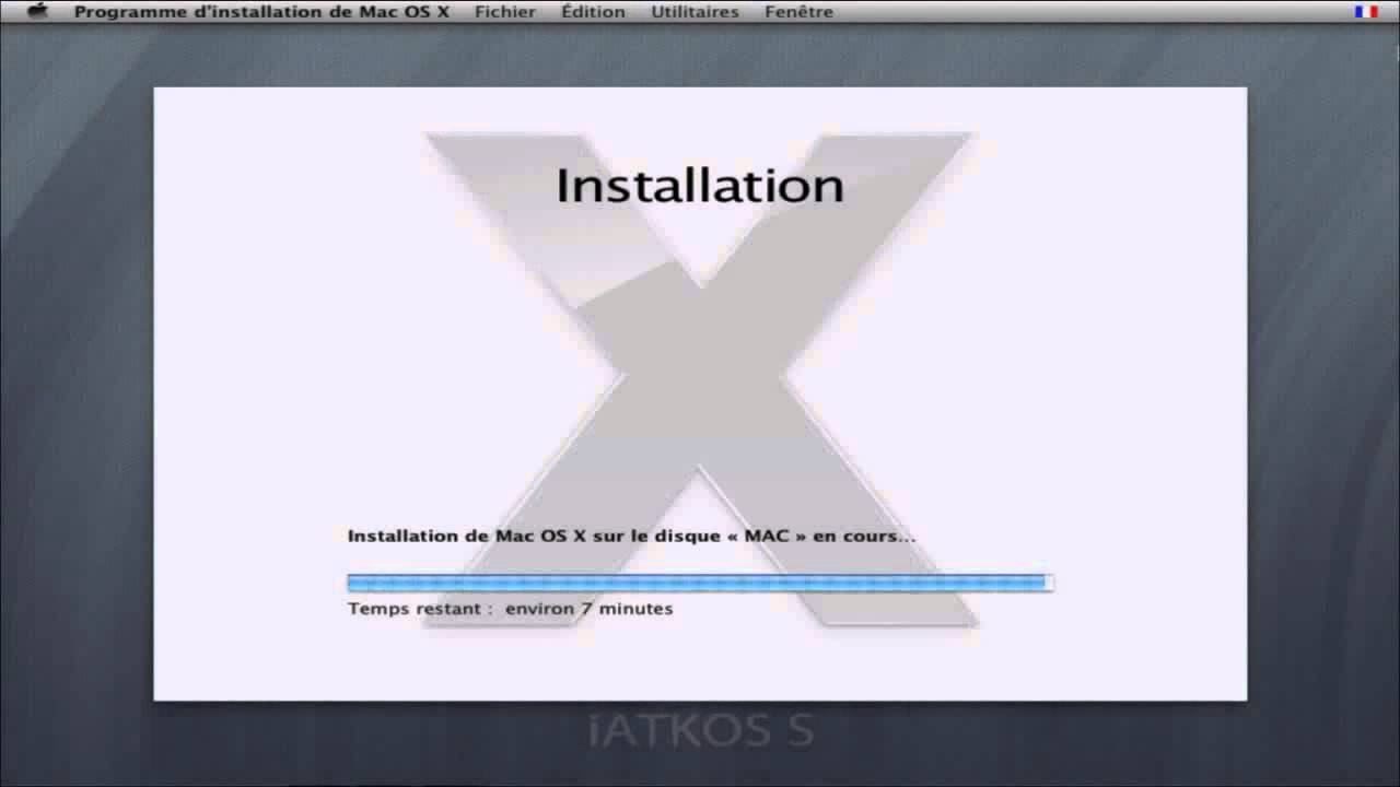 1 1 tuto complet comment installer iatkos mac osx86 stable sur pc windows hackintosh francais. Black Bedroom Furniture Sets. Home Design Ideas