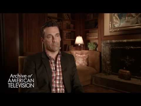 Jon Hamm discusses working with John Slattery as Roger Sterling - EMMYTVLEGENDS.ORG