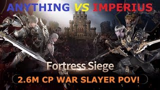 Lineage 2 Revolution: ANYTHING VS IMPERIUS FORTRESS SIEGE: 2.6M CP WAR SLAYER POV!