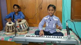 DAGABAAZ RE TERE NAINA BADE DAGABAAZ R..Sung..By..Shreshth Niranjan and Play Tabla Kushagra Niranjan