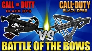&quot;BO2 Crossbow&quot; vs &quot;BO Crossbow&quot; - Battle of the Bows! (Black Ops 2 Call of Duty Breakdown)