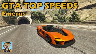 Fastest Supercars (Emerus) - GTA 5 Best Fully Upgraded Cars Top Speed Countdown