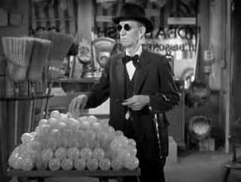 """W.C. Fields in """"It's A Gift"""" - Blind Man with Cane"""