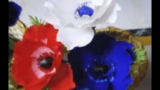 How to make Paper Flower Anemone (Flower # 41)