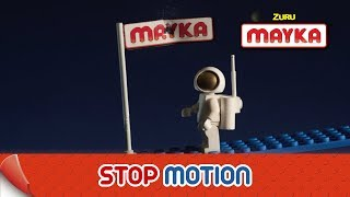 Mayka | Explore Spooky Space with Toy Block Tape | Lego Stop Motion Animation