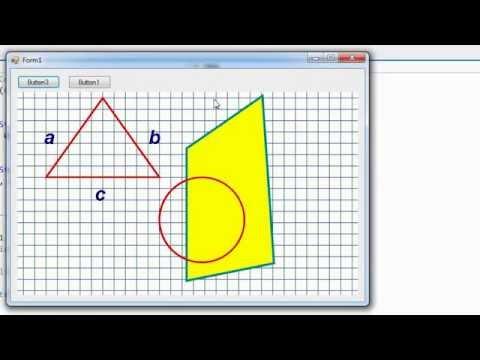VB.net - Графика (рисуем линии, многоугольники, круги и буквы)