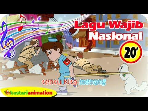 Lagu Wajib Nasional Indoneisa Raya 20 menit bersama Diva Animasi Anak | Kastari Animation Official