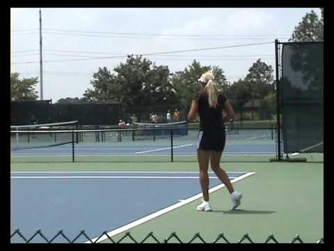 Aleksandra Wozniak practice in Cincinnati 2009 Video