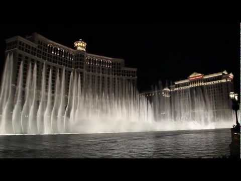 Bellagio Fountains - Time To Say Goodbye (hd + Stereo Sound) video
