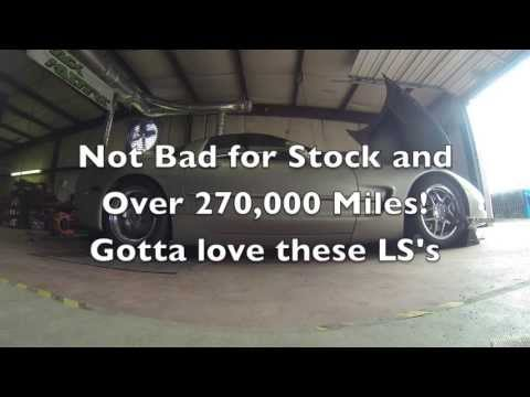 270,000+ mile LS1 Corvette C5 Dyno (Stock) - Tyler's Track Masters Dyn