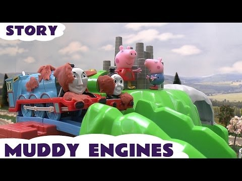 Thomas and Friends Peppa Pig Play Doh Kids Toy Story Muddy Puddle James Roller Coaster Mountain