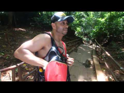 Pablo Baez on Monkey island in Malaysia