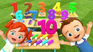 Learning Numbers for Children with Little Baby Boy & Girl Fun Play Animals Toys 3D Numbers for Kids