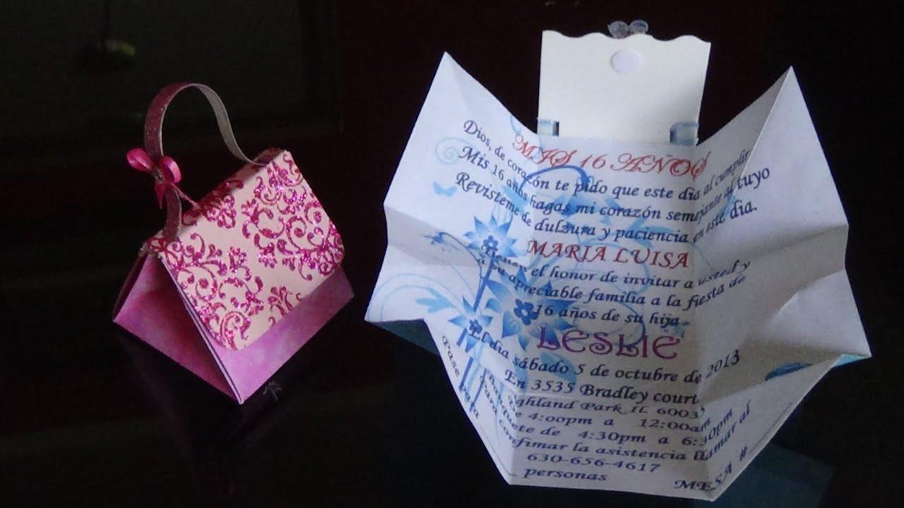 Invitaciones originales para 15 a os 3 a os bautizos - Fotos originales para hacer en casa ...