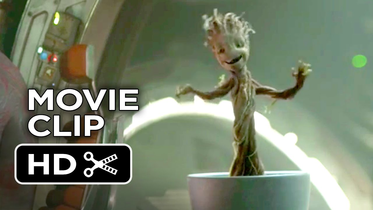 guardians of the galaxy movie clip dancing baby groot