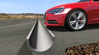 Beamng drive - Reverse Speed Bump against cars