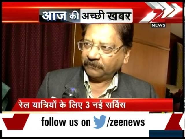 Railway Minister Suresh Prabhu launches three new services for train passengers