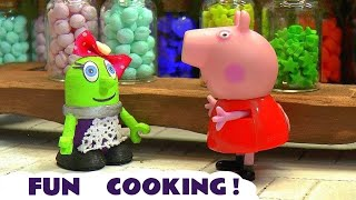 Funny Funlings candy cooking competition with Peppa Pig TT4U