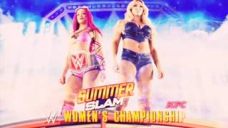 WWE SummerSlam 2016: Sasha Banks vs Charlotte Official Match Card