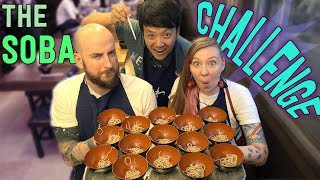 100 Bowls SOBA NOODLE Challenge With Simon & Martina in Yokohama Japan