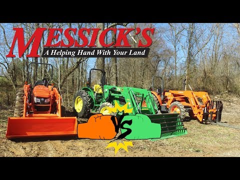 John Deere 5055e vs Kubota MX-Series tractor comparison and review