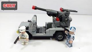 Đồ chơi ráp Lego Xe bắn súng lính quân đội brick toy for kids