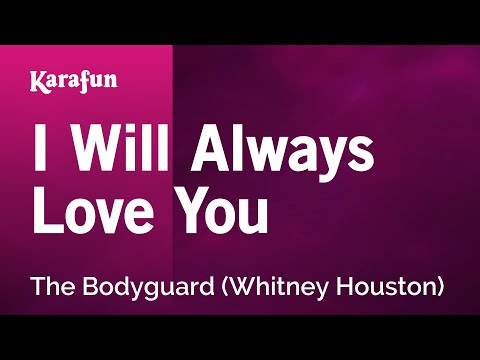 Karaoke I Will Always Love You (the Bodyguard) - Whitney Houston * video