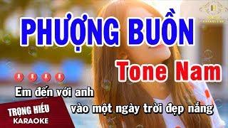 Karaoke Phượng Buồn Tone Nam Nhạc Sống   Trọng Hiếu