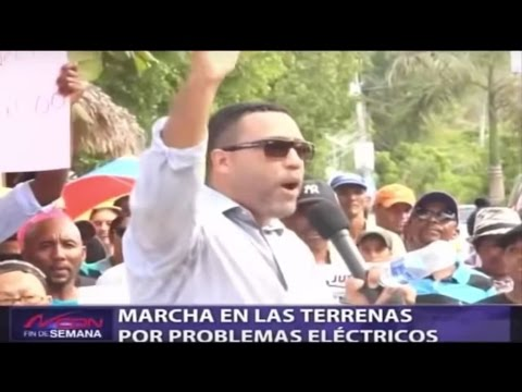Dominican Republic News 2016 | March against energy rates in Las Terrenas