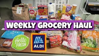Weekly Grocery Haul & Meal Plan | Aldi & Hello Fresh