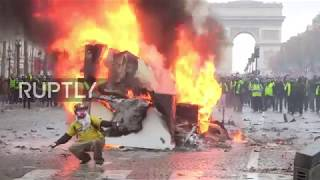 France: Chaos in Paris as anti-fuel tax protest turns violent