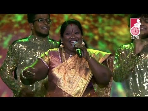 Tamil Folk Song by Chinnaponnu | Vikatan Nambikkai Awards