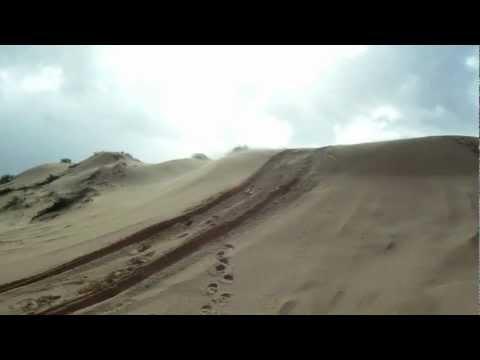 סופת חול בפלמחים - Shifting sands in a sandstorm in the coastal plain of Israel