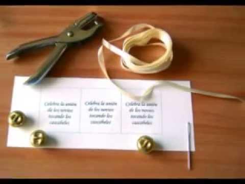 Manualidades para Bodas: Recuerdo de boda,  Pulsera con casc