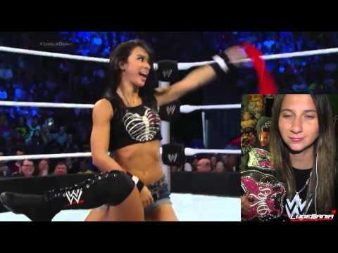 WWE Smackdown 8/15/14 Aj Lee vs Eva Marie Live Commentary