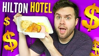 Hotel Room Service TASTE TEST! - Hilton Buffet EXPENSIVE Food REVIEW!