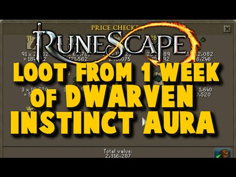 Runescape Loot from 7 Days of Dwarven Instinct Aura – Money Making Guide 2015 – iAm Naveed Runescape