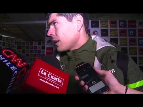 """Carlos Lampe terminó siendo el """"villano"""" en el Chile-Bolivia y conversó con el diario pop sobre el partido de su vida."""