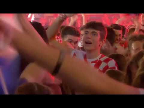 Euphoria in Zagreb as Croatia go ahead of England in extra-time thumbnail