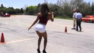 "HOT SEXY GIRL IN DRAG RACING    """"""MUST SEE"""""""