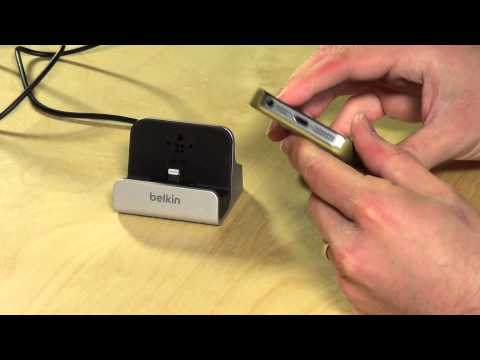 Belkin iPhone 5 5s 5c Charge and Sync Dock with Lightning Cable Connector Review E9M004