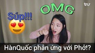 Cảm xúc của người Hàn Quốc khi lần đầu ăn phở Việt Nam!?