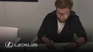 The new Lexus UX Concept – Exterior Designer Stefan Rasmussen sketches the car
