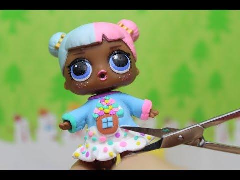 Самодельная одежда для кукол LOL Surprise  Как снять